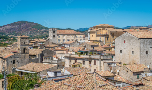 Panoramic sight from Alatri acropolis, province of Frosinone, Lazio, Central Italy Wallpaper Mural