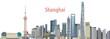 vector city skyline of Shanghai