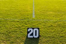 Twenty Yard Line Marker At An ...