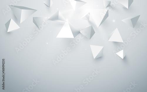 abstrakcjonistyczny-bialy-3d-ostroslupow-tlo-wektor