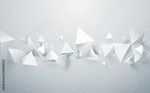 abstrakcjonistyczny-bialy-3d-ostroslupow