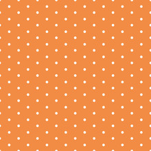 Vector Seamless Background With Polka Dot Ornament Made In Autumn Orange Color