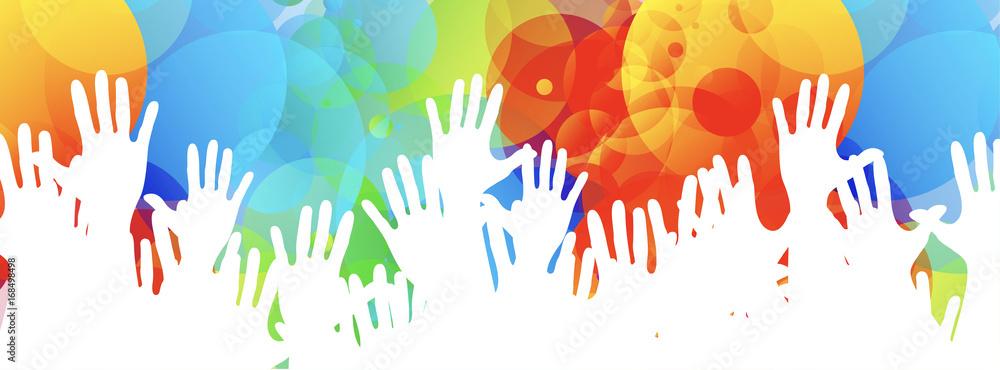 Fototapeta mani, comunità colori
