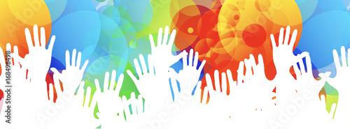 mani, comunità colori Poster Mural XXL