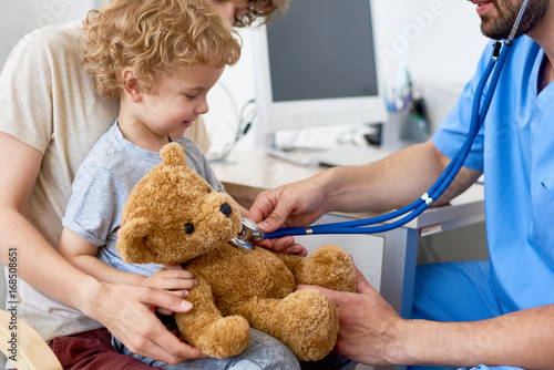 Mother and Child in Pediatric Office