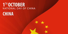 National Day Of China. Flag An...