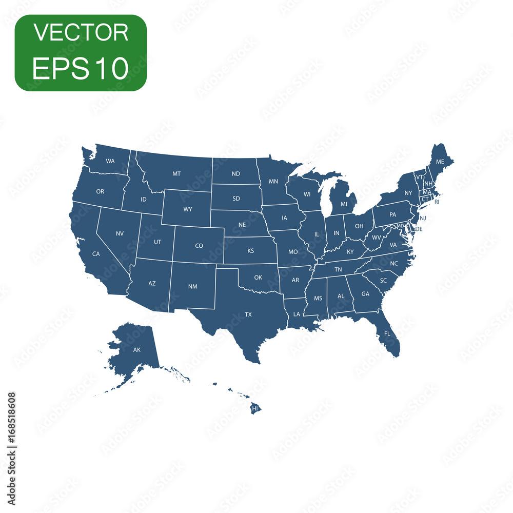 USA map icon Foto, Poster, Wandbilder bei EuroPosters