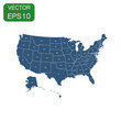 USA map icon. Business concept America politics pictogram. Vector illustration on white background.
