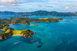 canvas print picture - awesome islands landscape with turquoise sea