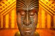 Leinwanddruck Bild schnitzkunst Neuseeland Maori