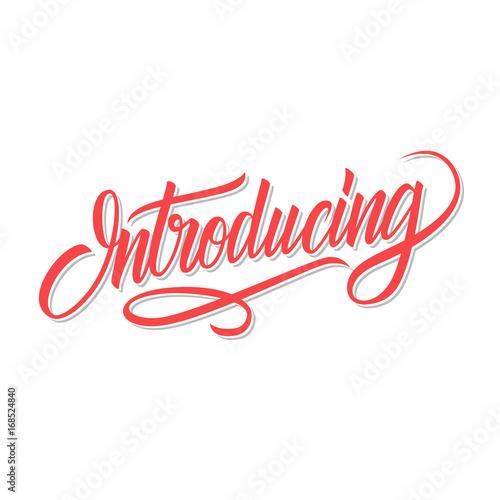 Fotografía  Introducing word calligraphic lettering