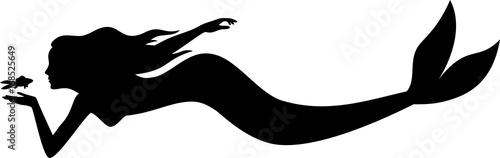 Obraz na płótnie Mermaid Silhouette