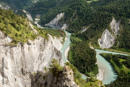 Plakat Kanion Ruinaulta w Szwajcarii