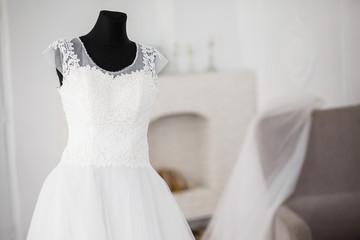 Naklejka wedding dress on the rack