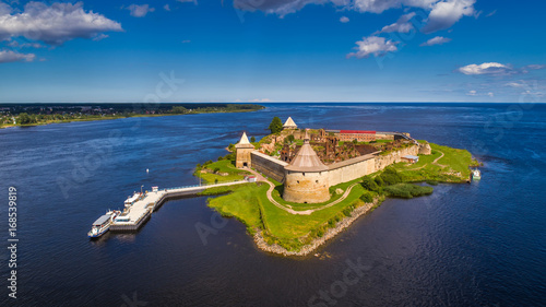 Fortress on the island. Fortress Strong nutlet. Ladoga lake. Fototapet