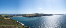 Panorama Of Port Erin Bay And Calf Of Mann On The Isle Of Man