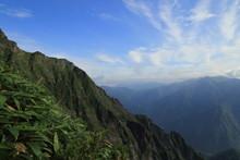谷川岳の西黒尾根からの展望