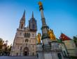 Zagreb, cathedral in Croatia