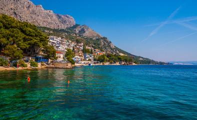 amazing beach on Makarska Riviera, Dalmatia, Croatia