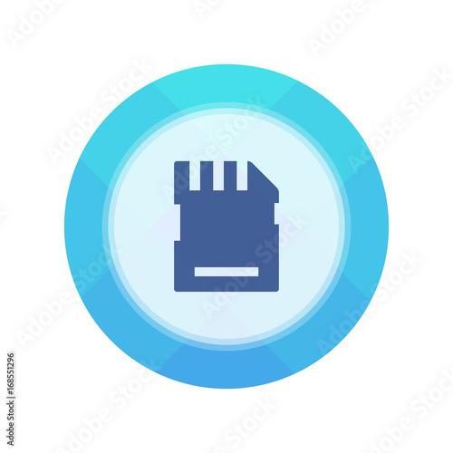 Paper Flat Cirlce Button Canvas Print