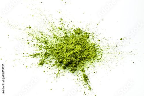 Fotografie, Obraz  Matcha powder explosion on white background from above