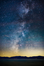 Starry Night And Milky Way Above Lake Tahoe