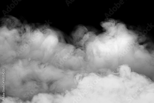 Türaufkleber Rauch Smoke fragments on a black background