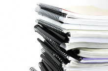 Stacking Documents Bound With Binding Spines