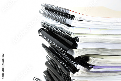 Canvastavla stacking documents bound with binding spines