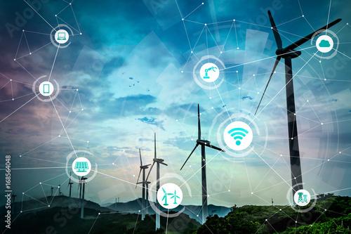 Erneuerbare Energie und Internet der Dinge Fototapete