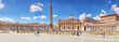 St. Peter's Square and St. Peter's Basilica, Vatican City in the day time, tourist around. Italy.