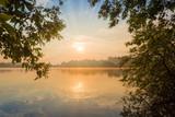 Fototapeta Krajobraz - Sunrise over the pond