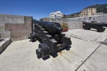 Gibraltar Rock, An Old Cannon ...