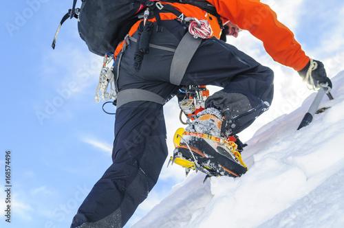 Poster Mountaineering steiler Aufstieg zum Gipfel
