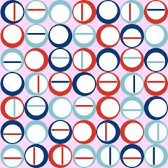 Panel SzklanyScandinavian seamless texture of round