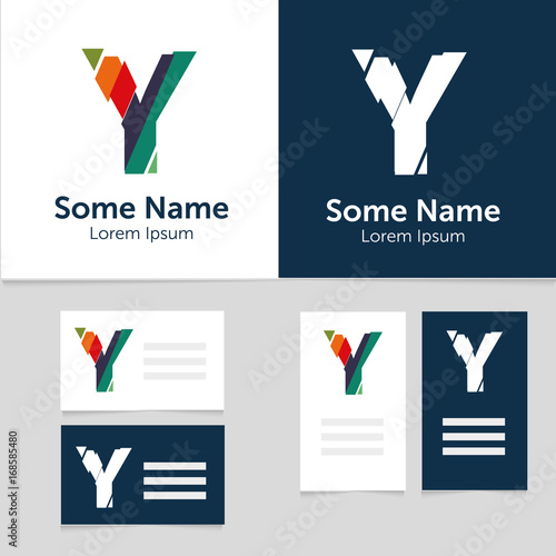 Editable Business Card Template With Y Letter Logoctor
