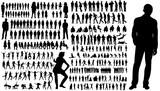 zbiór sylwetki ludzi, mężczyzn i kobiet