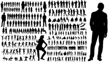 Collection Of Silhouettes Of ...