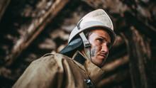 Russian Fireman Exploring Buil...