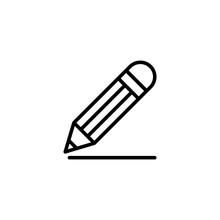 Drawing Pencil Line Black Icon