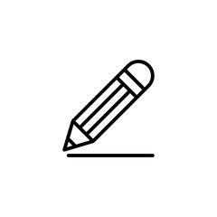 drawing pencil line black icon