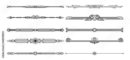 Set of decorative elements. Canvas-taulu