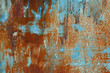canvas print picture - Old grunge corroded rusted metal wall texture