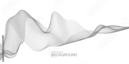 Poster de jardin Abstract wave 3D abstract digital wave