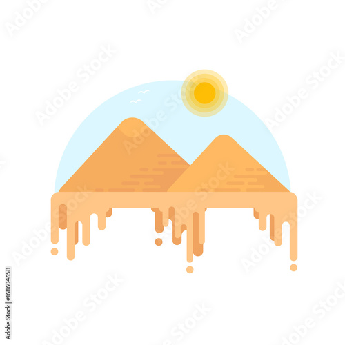 silhouette-of-egyptian-pyramids-of-giza-flat-style-illustration