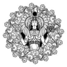 Zodiac Sign Libra. Egyptian Go...