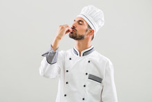 Chef Is Showing Delicious Sign...