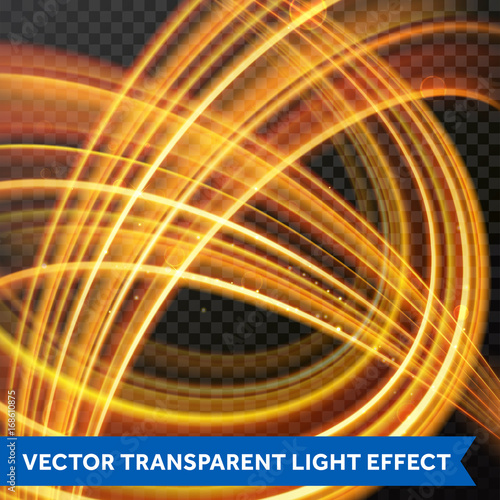Light Multi Line Tracing Effect Vector Fire Flare Trace Of Magic