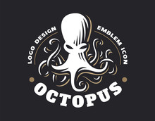 Octopus Logo - Vector Illustra...