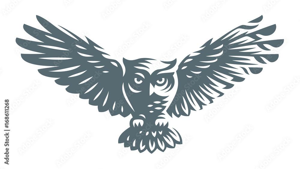 Fototapety, obrazy: Owl - vector illustration. Icon design on white background